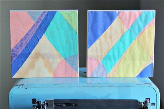 Easy Wall Art Geometric Wooden Canvas Project