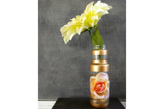 Upcycled Glam Vase