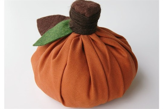 No Sew Fabric Pumpkin