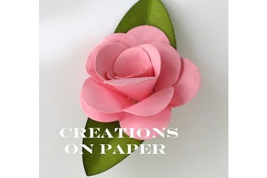 Fancy flower tutorial - rose