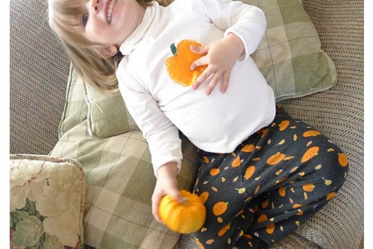 Apple (and Pumpkin) Stamped Shirts