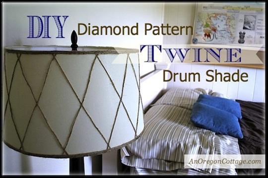 Diamond Pattern Twine Drum Shade {Wayfair DIY Challenge}