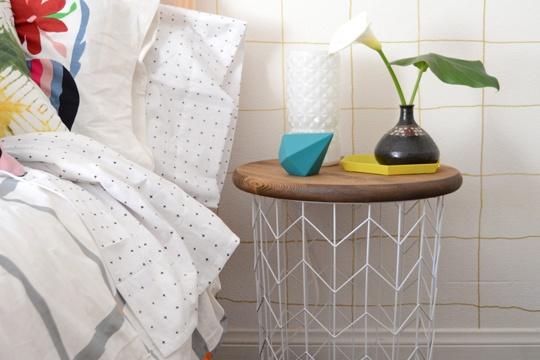DIY Wire Basket Side Table