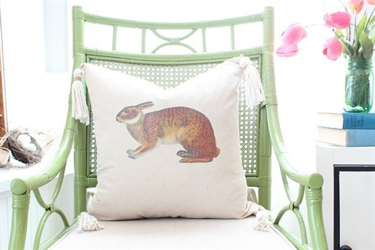How to Make a Bunny Pillow Cover