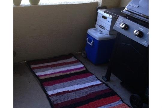 Artistic Life Upcycled Crochet Rag Rug