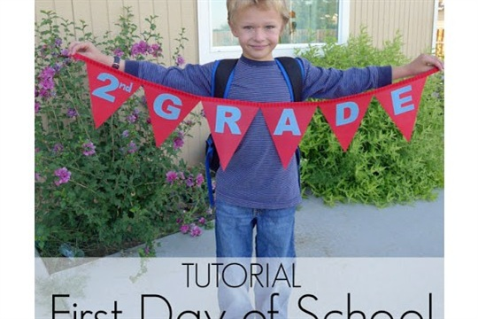 Tutorial First Day of School Bunting Banners Using Oly*Fun