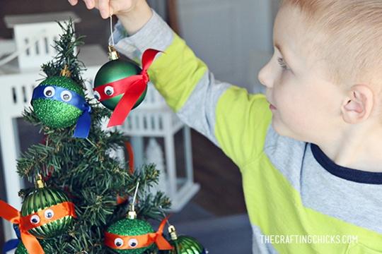 DIY Ninja Turtle Ornaments - The Crafting Chicks