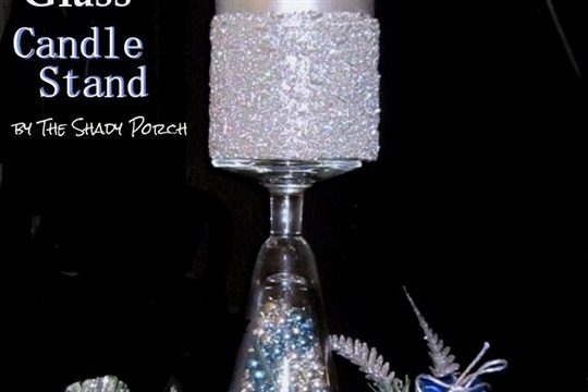 DIY Festive Glass Candle Stands