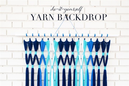DIY Easy Yarn Backdrop