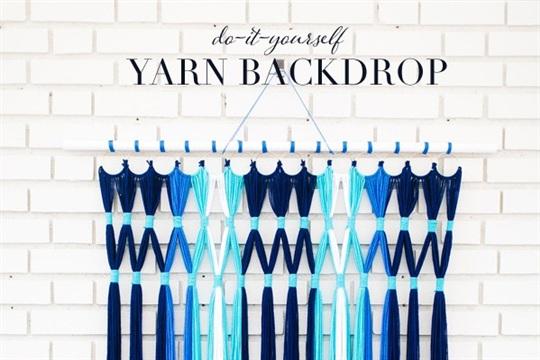 DIY Easy Yarn Backdrop