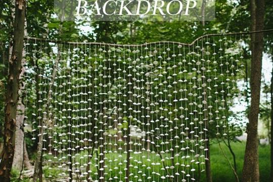 DIY Clay Pod Backdrop