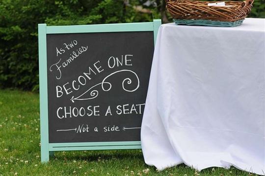 Wedding DIY: Chalkboard Seating Sign