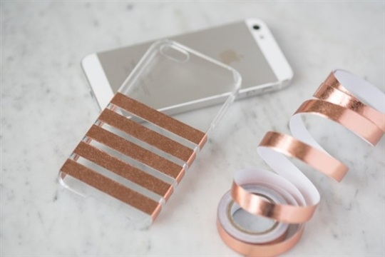 DIY Foil Striped iPhone Case - The Sweetest Occasion  The Sweetest Occasion