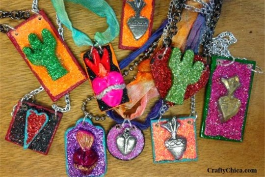 Wood Collage Jewelry