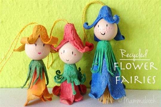 Tutorial: upcycle egg cartons into Flower Fairies