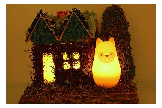 How to Make a Fox and Cottage Night Light