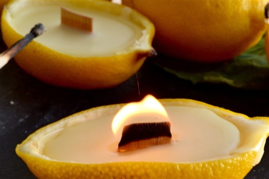 Lemon beeswax candles – twineandtable