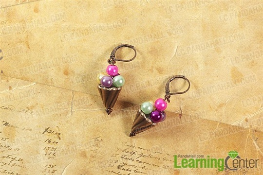 Easy Craft on Making Ice Cream Earrings with Colorful Beads