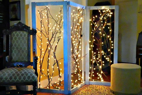 Twinkling Branches Room Divider DIY