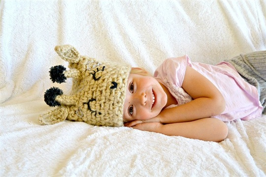 Crochet Giraffe Hat=