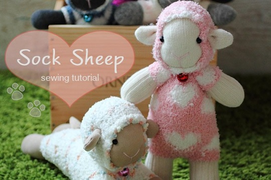 Sock Sheep Free Sew Pattern