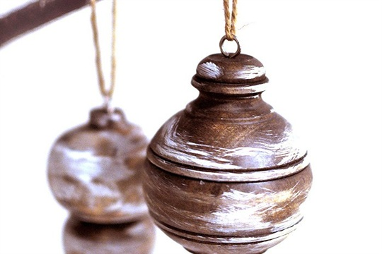 Stained Wooden Ornaments