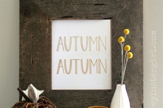 Gold Foil Fall Art & Silhouette Promotion