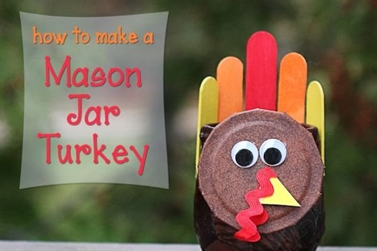 Mason Jar Turkey Craft