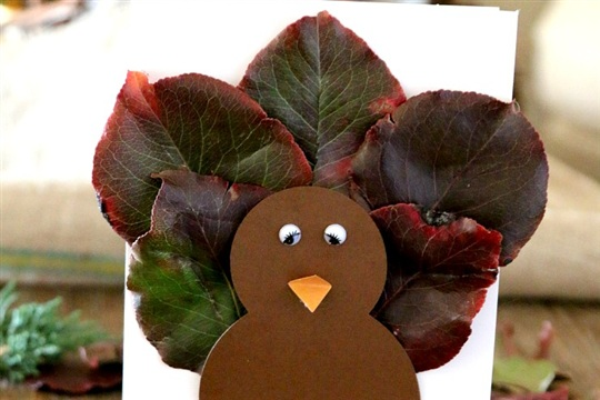 Fall Leaf Turkey Craft for Kids (and Cards!)
