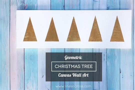 Geometric Christmas Tree Wall Art