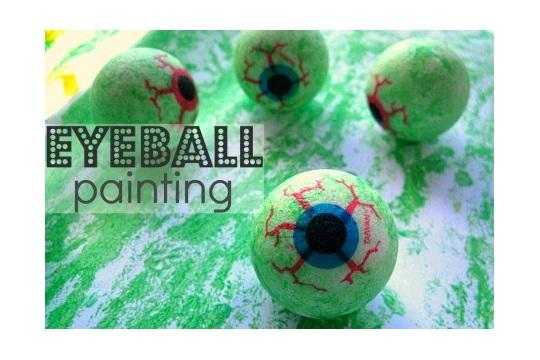 Not Too Gross Eye Ball Painting