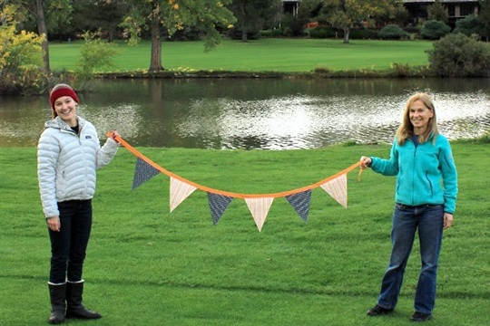 Sewing a Halloween Pennant Bunting