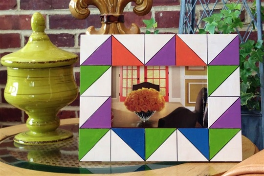 Triangle Chevron Geometric Picture Frame & Featured Pillow Giveaway!