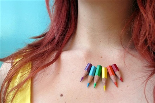 Colored Pencil Necklace by Magical Daydream