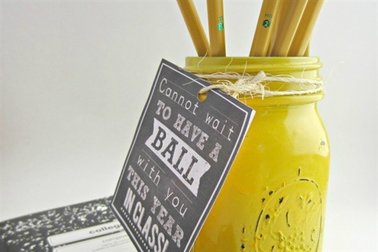 Back to School Ball Jar Teacher Gift