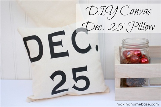 DIY Canvas Pillow for Christmas