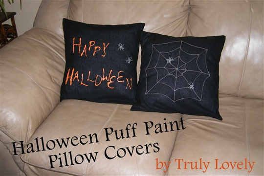 Halloween Puffy Paint Pillow Covers