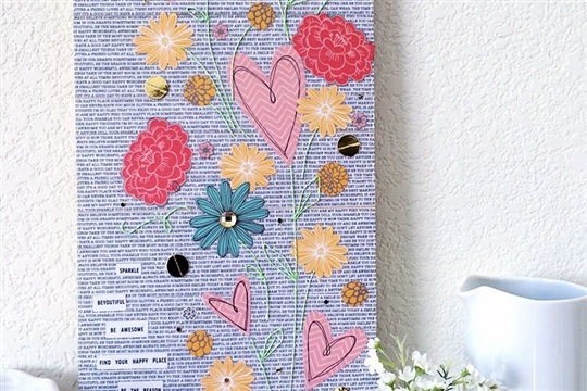 DIY Art Collage Project