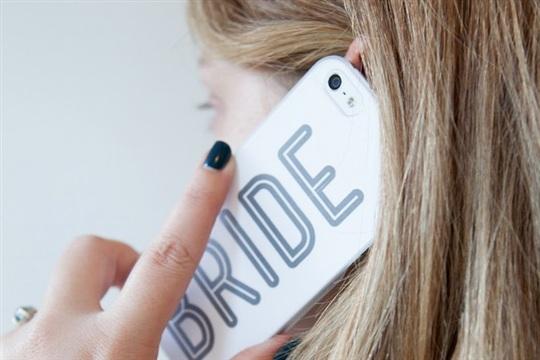 DIY printable wedding cell phone case + GIVEAWAY
