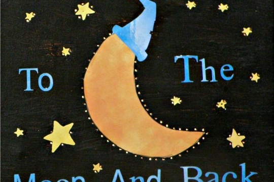 DIY Baby Room Make an Adorable Moonlight Canvas