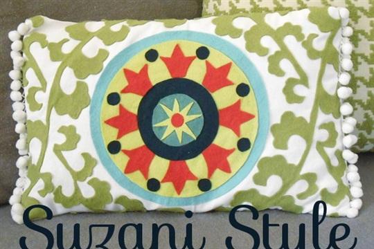 Suzani Style Applique Pillows Tutorial