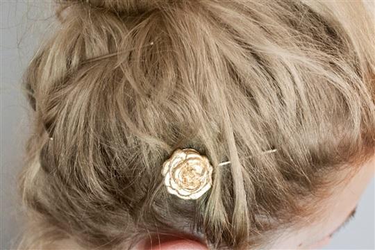 Gold Leaf Hair Pins