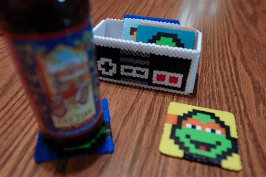 Ninja Turtle 8 bit Coasters
