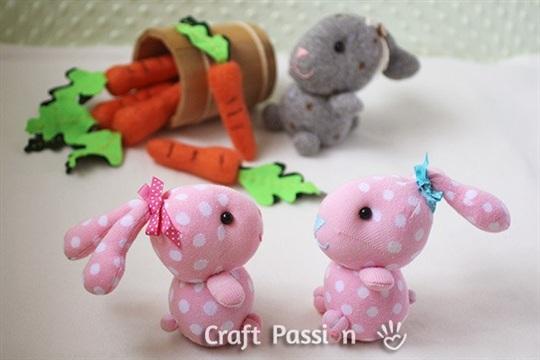 Sock Bunny Free Sew Pattern