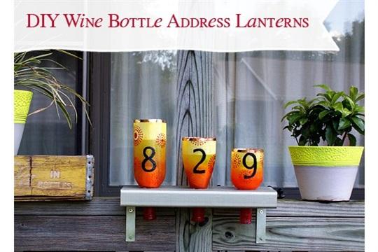 Deco Art Glass Paint Upcycle Wine Bottles