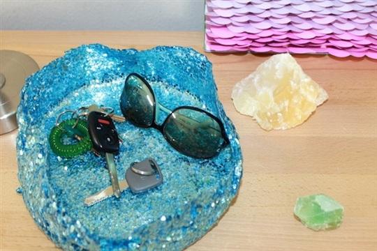DIY Mod Podge Glitter Bowl