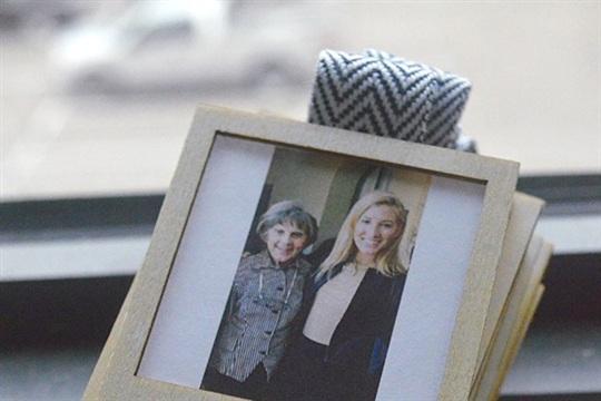 Wood Burned Mini Polaroid Frame for Instagram Prints
