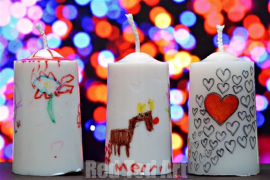 Gifts Kids Can Make Decrated Candles Red Ted Art's Blog