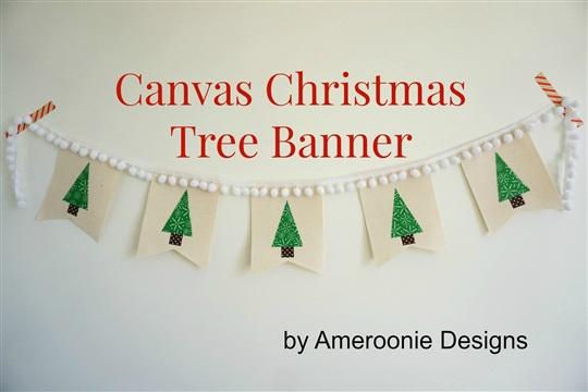 Canvas Christmas Tree Banner Skip To My Lou Skip To My Lou