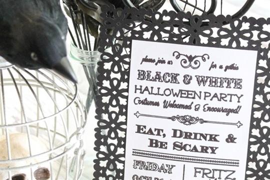 Gothic Halloween Invitation